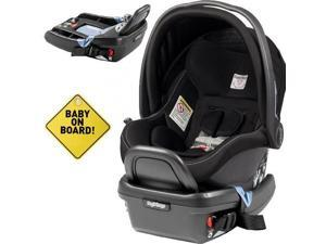Peg Perego - Primo Viaggio 4-35 Car Seat w  Extra Base and Baby on Board Sign - Onyx