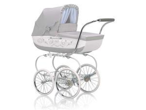 Inglesina CLASS12BTL Classica Pram with Diaper Bag and Raincover -  Betulla  Light Gray White