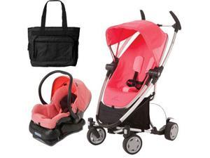 Quinny Zapp Xtra Folding Seat Stroller Travel system w diaper bag  Pink Precious