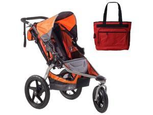 BOB ST1022  Revolution SE Single Stroller with Diaper Bag - Orange
