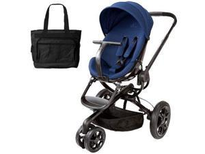 Quinny CV078BFP Moodd Stroller in Blue Reliance With a Diaper Bag