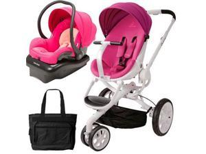Quinny CV078BFU Moodd Stroller Travel system with diaper bag and car seat - Pink Passion