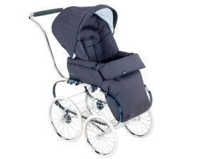 Inglesina Marina Classica Stroller Seat with Hood and Chrome Blue Balestrino Frame