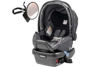 Peg Perego - Primo Viaggio 4-35 Car Seat  w  Back Seat Mirror - Portraits Grey  Special Edition