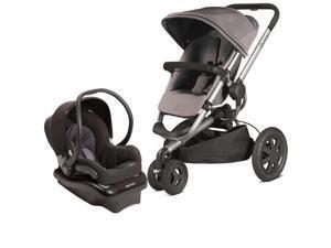 Quinny Buzz Xtra Travel System with Black Car Seat- Grey Black