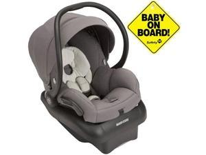 Maxi-Cosi IC223CZK - Mico AP Infant Car Seat w Baby on Board Sign - Grey Gravel