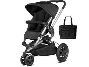 Quinny CV290RKB - Buzz Xtra Stroller with Diaper Bag - Rocking Black