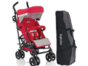 Inglesina AG82GOLNR - Trip Stroller with Carrying Bag - Lunar  Red