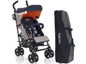 Inglesina AG82GOMRK - Trip Stroller with Carrying Bag - Marrakech  Beige Blue
