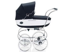 Inglesina CLASS11VER Classica Pram with Diaper Bag and Raincover - Navy White