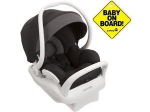 Maxi-Cosi IC164BIZ - Mico Max 30 Infant Car Seat  White Collection w Baby on Board Sign - Devoted Black