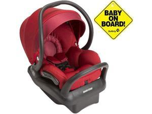 Maxi-Cosi IC160CKT - Mico Max 30 Infant Car Seat w Baby on Board Sign - Red Rumor