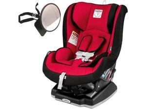 Peg Perego - Primo Viaggio Convertible Car Seat with Back Seat Mirror - Rouge