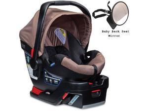 Britax - B-Safe 35 Infant Car Seat with Back Seat Mirror - Sandstone