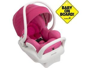 Maxi-Cosi IC164DCN - Mico Max 30 Infant Car Seat  White Collection w Baby on Board Sign - Pink Berry