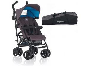 Inglesina - Trip Stroller with Carrying Bag - Platinum Gray Blue