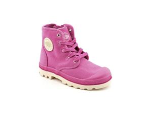 Palladium Pampa Hi Youth Kids Girls Size 12.5 Pink Textile Casual Boots