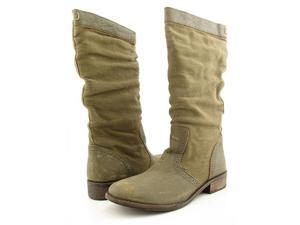 DIESEL Prarie Boots Military Olive Womens Shoes Size 7