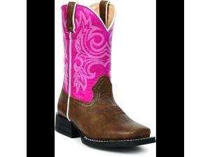 Durango Li'l Partners Youth US 2.5 Pink Western Boot