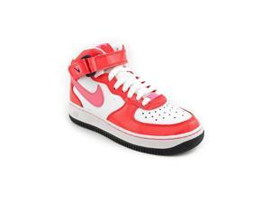 Nike Air Force 1 Mid (GS) Youth Girls Size 7 Red Leather Athletic Sneakers Shoes
