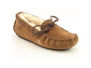 Ugg Australia Dakota Youth Girls Size 1 Brown Moccasins Moc Suede Slipper Shoes