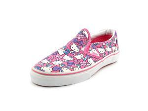 Vans Classic Slip-On Youth Girls Size 2.5 Pink Boat Textile Sneakers Shoes