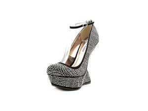 Steve Madden Gosssip Women US 5.5 Black Wedge Heel