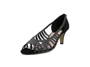 Easy Street Sparkle Women US 9 Black Peep Toe Heels