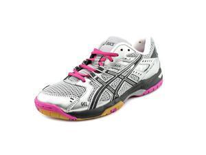 Asics Gel-Rocket 6 Women US 11.5 Silver Tennis Shoe