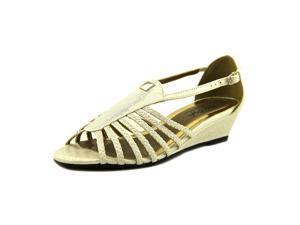 Soft Style by Hush P Eleni Women US 7.5 White Wedge Sandal