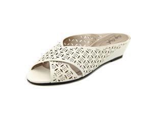 Soft Style by Hush Puppies Elida Women US 8 N/S White Slides Sandal