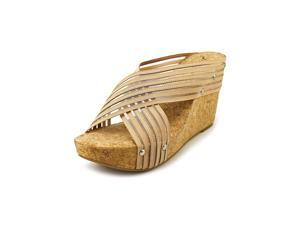 Lucky Brand Miller2 Women US 9.5 Nude Wedge Sandal