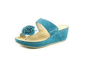 David Tate Jolly Women US 7 Blue Platform Sandal