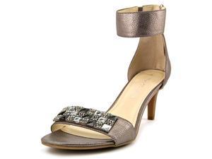 Franco Sarto Evelina Women US 7.5 Silver Open Toe Heels