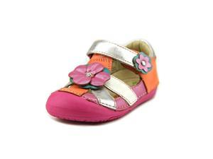 Momo Baby Lily Toddler Girls Size 5.5 Multi-Colored Leather Dress Sandals Shoes