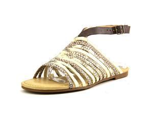 Lucky Brand Cabette Women US 8 Ivory Slingback Sandal