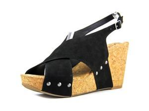 Lucky Brand Minari Women US 7.5 Black Wedge Sandal