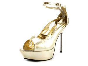 Ellie Loren Women US 9 Gold Platform Sandal