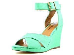 Michael Antonio Gamada Women US 7.5 Green Wedge Sandal