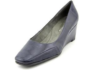 Aerosoles Barecuda Women US 7 W Blue Wedge Heel