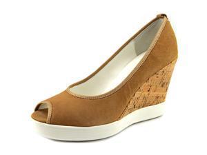Donald J Pliner Carli Women US 7 Tan Peep Toe Wedge Heel