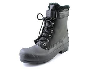 Hunter Org Shearling Lace Up Men US 9 Black Rain Boot UK 8 EU 42