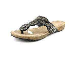 Rebels Dafne Women US 6 Black Thong Sandal