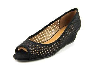 FS/NY Necessary Women US 9 Black Peep Toe Wedge Heel