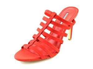 BCBGeneration Callie Women US 8 Red Peep Toe Mules