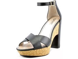DKNY Willa Women US 9.5 Black Sandals UK 7 EU 40.5
