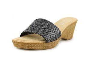 Easy Street Perugia Women US 7.5 Black Slides Sandal