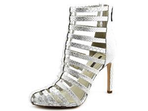 BCBGeneration Conga Women US 8 Silver Peep Toe Ankle Boot
