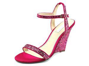 Betsey Johnson Darci Women US 6 Pink Wedge Sandal