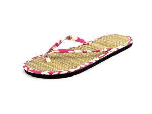 Alpine Swiss Bamboo Women US 6 Pink Thong Sandal